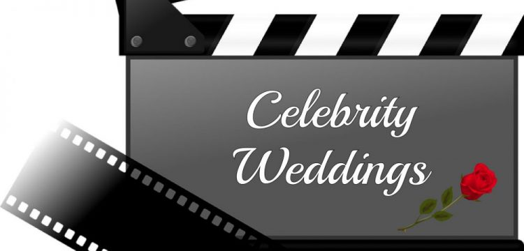 """A graphic with the words """"Celebrity Weddings"""" on it."""