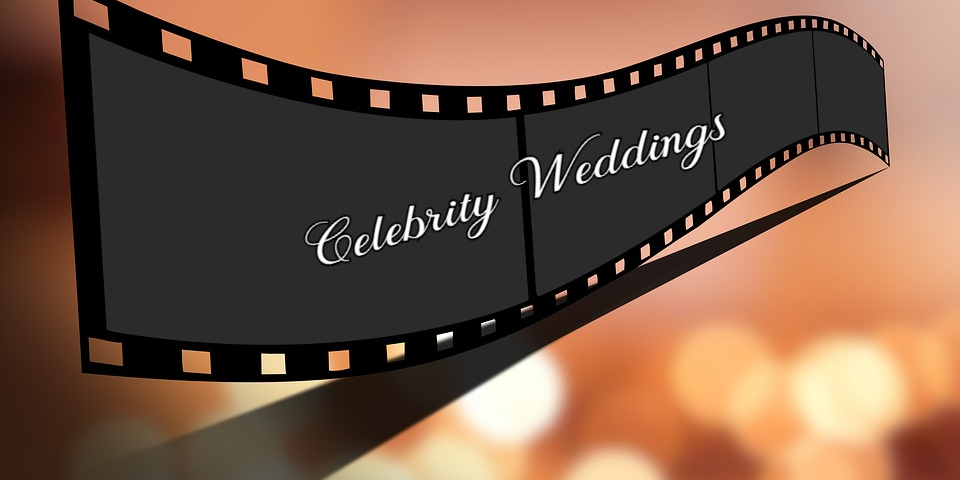 Banner with caption reading Celebrity Weddings.