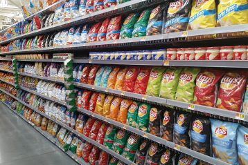 Aisle of store.