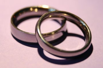 Two wedding bands.