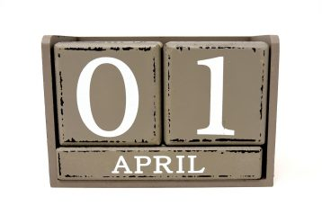 The date of April 1.