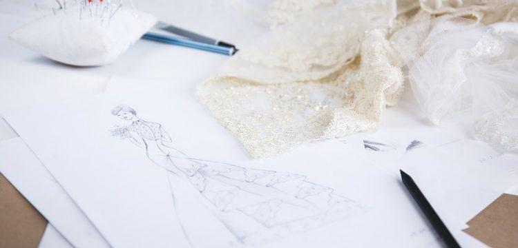 Bridal designs and material.