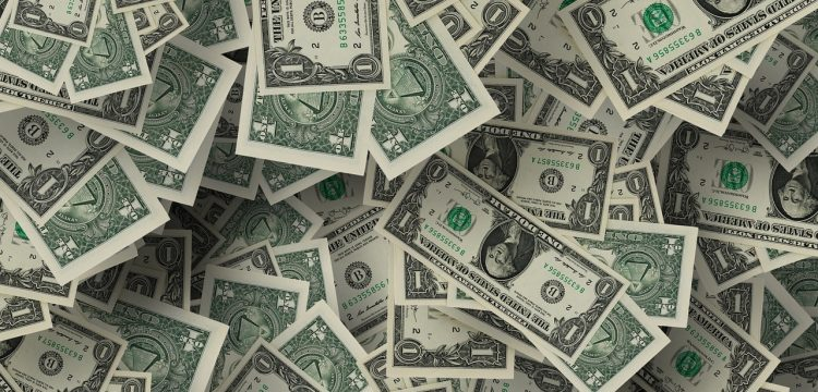 A bunch of dollar bills.
