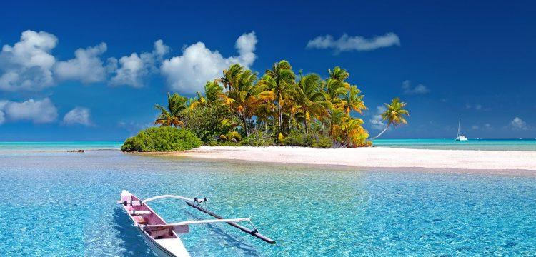 Tropical island and beach.