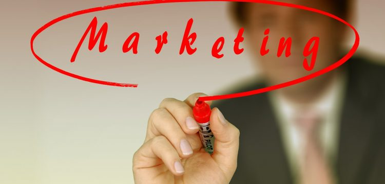 "The word ""Marketing""."