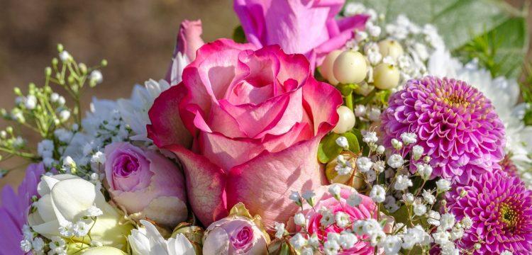Bouquet of wedding flowers.