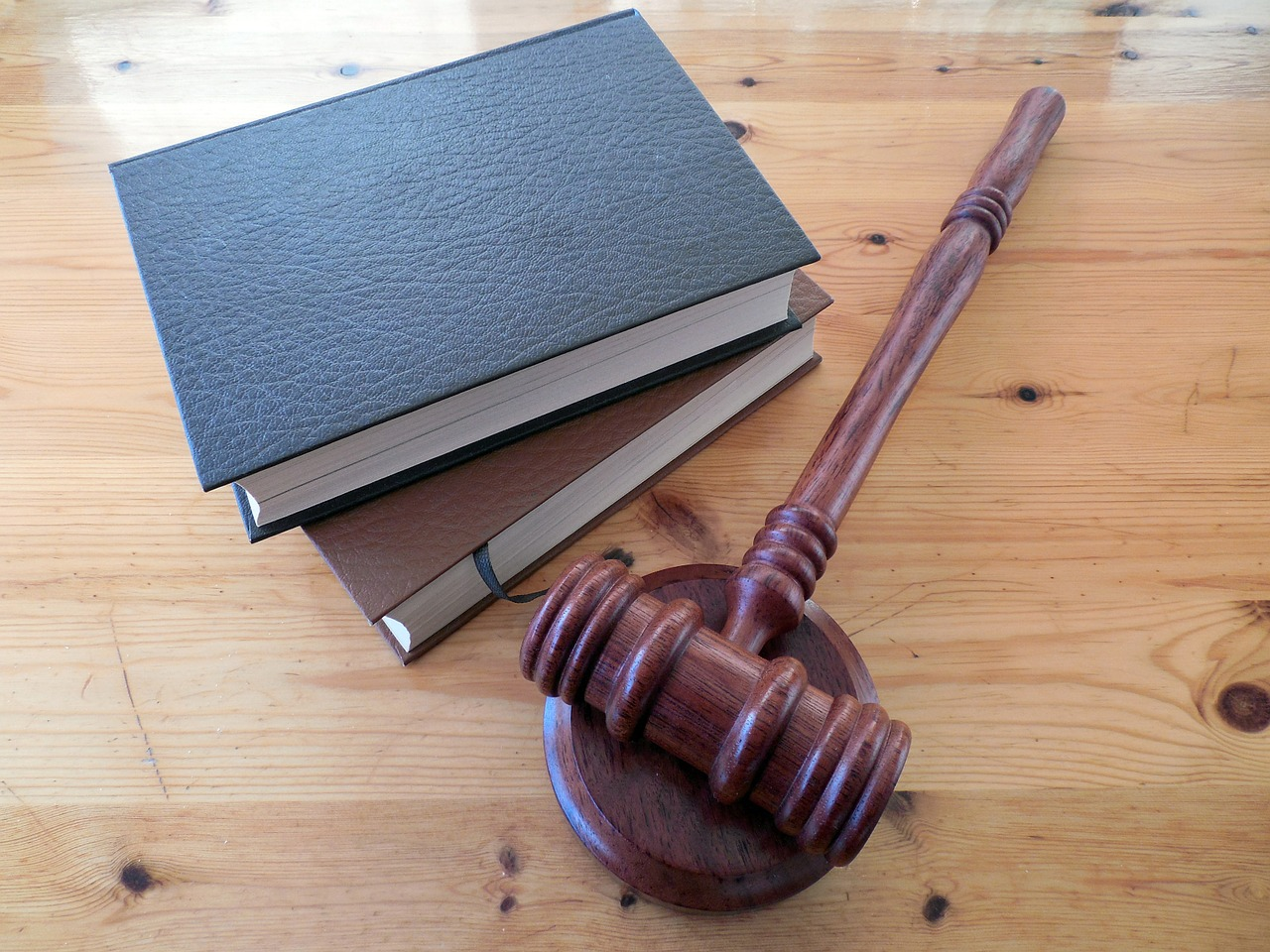 Two books and a gavel.