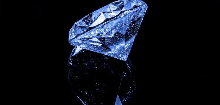 Close up of a diamond.