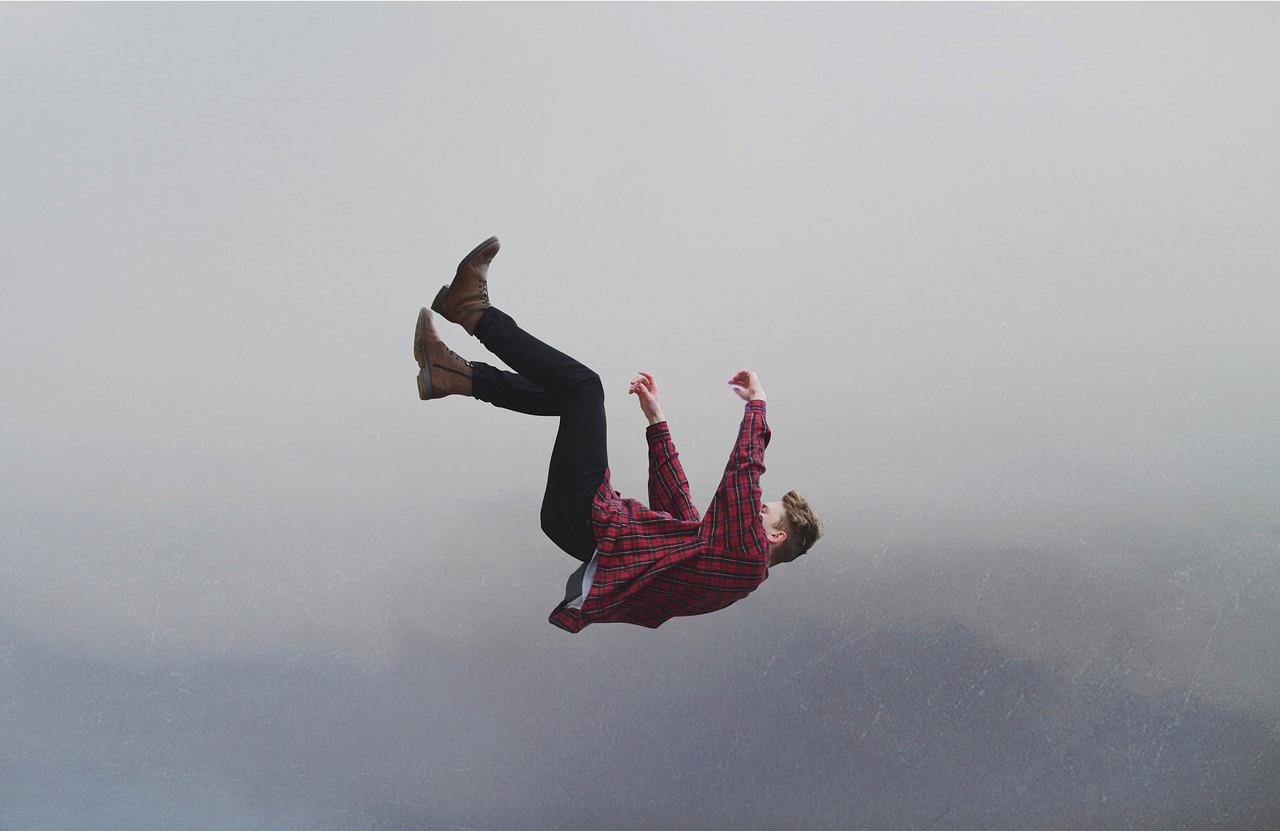 Man falling.
