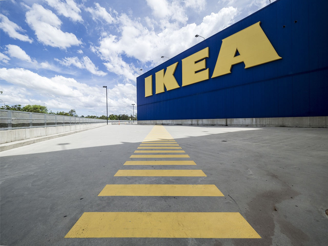 The outside of an IKEA store.