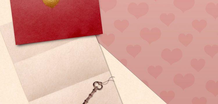 A red wedding invitation.