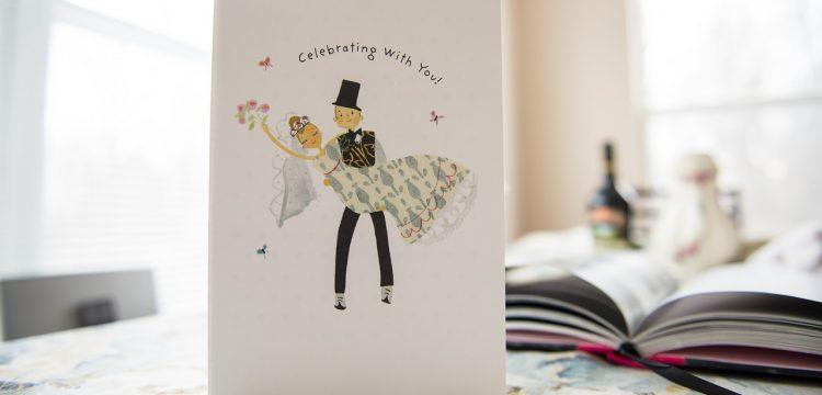 A wedding invitation.