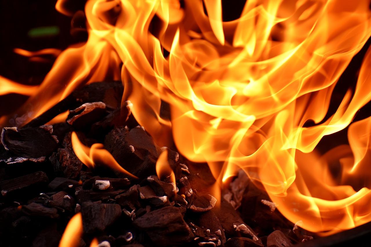 Flames.