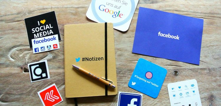 Logos of different types of social media.
