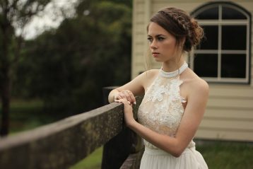 Melancholy bride.