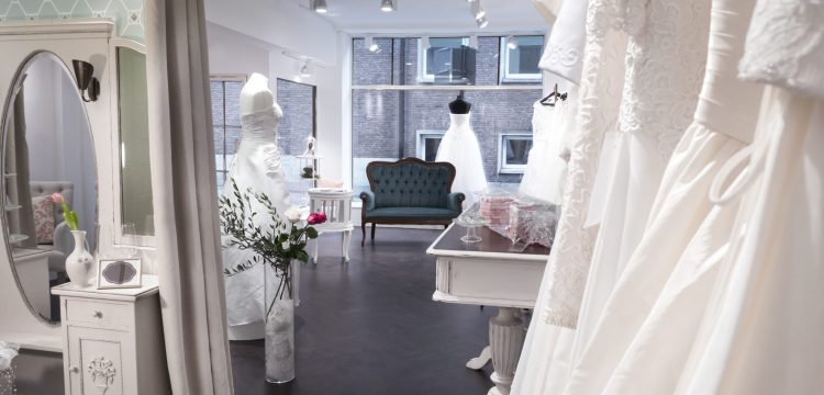 Wedding dress shop.
