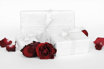 Wedding gift boxes.