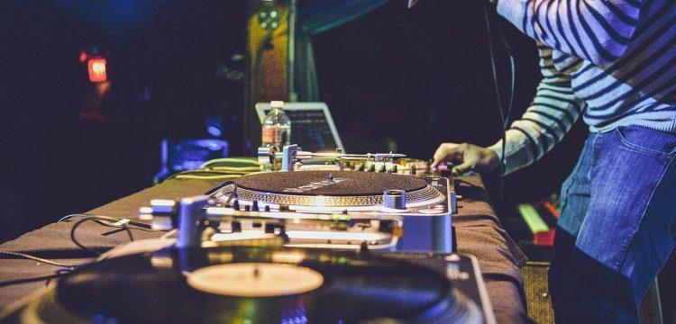 A DJ working.