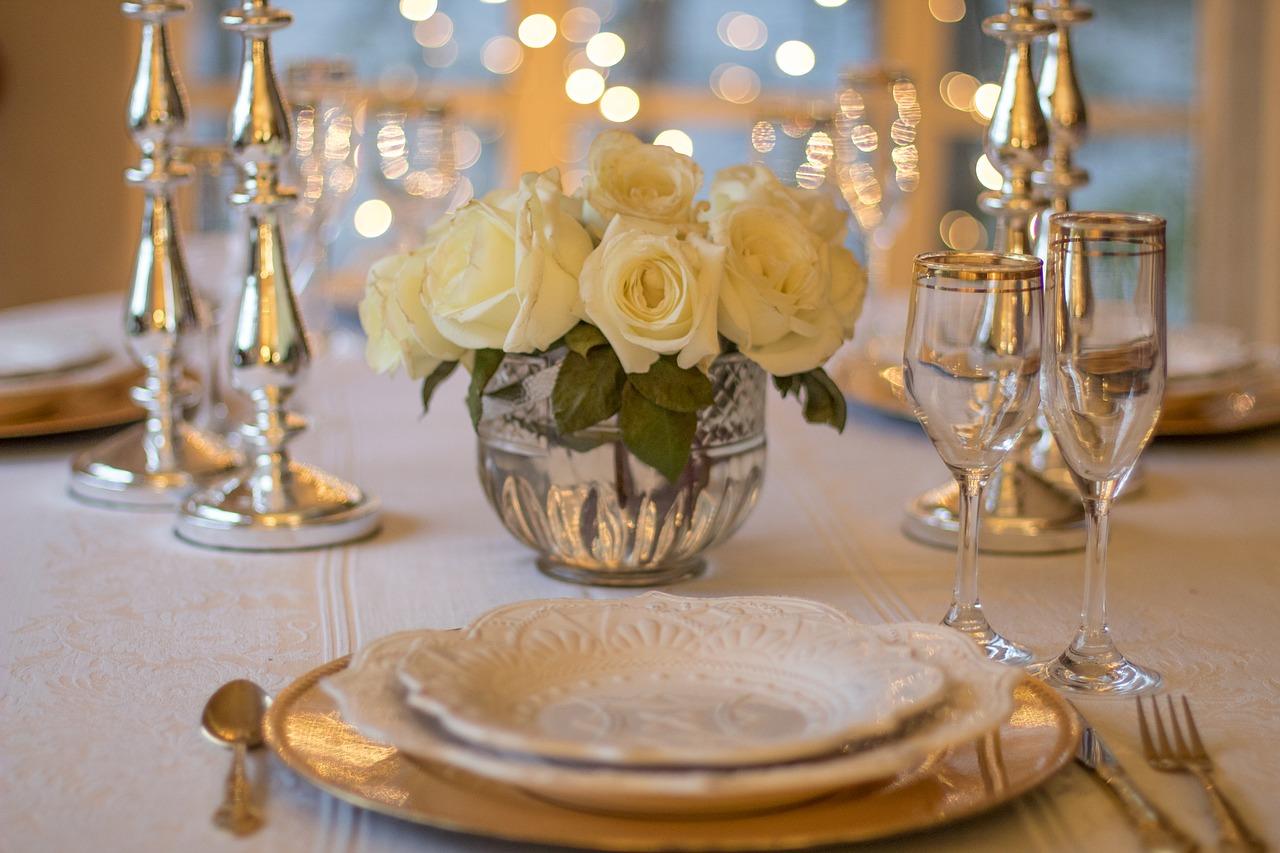 Fancy table setting.