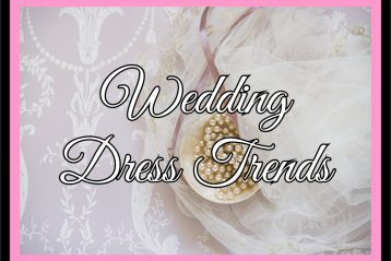 "Graphic that reads, ""Wedding Dress Trends""."