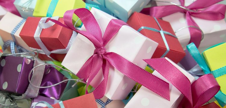 A bunch of colorful wrapped gifts.