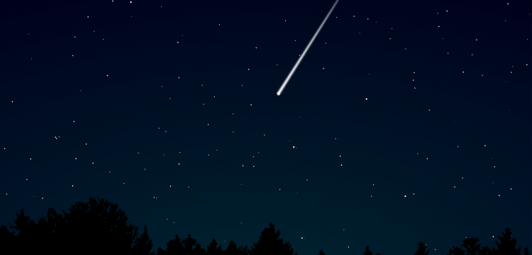 A meteor falling to earth.