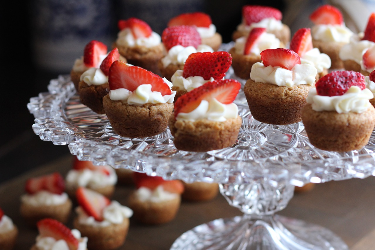 Mini desserts on a platter.