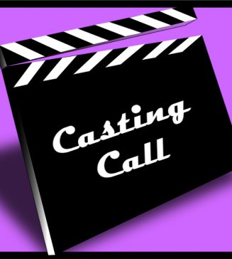 """Clapper that reads, """"Casting Call""""."""