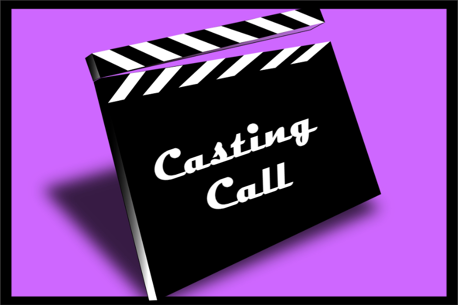 "Clapper that reads, ""Casting Call""."