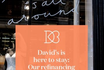 David's Bridal is here to stay graphic.