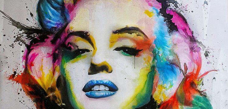 Painting of Marilyn Monroe.
