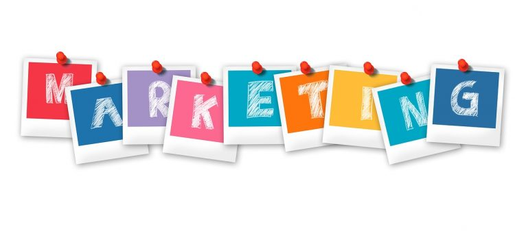 """Graphic that spells out the word, """"Marketing""""."""