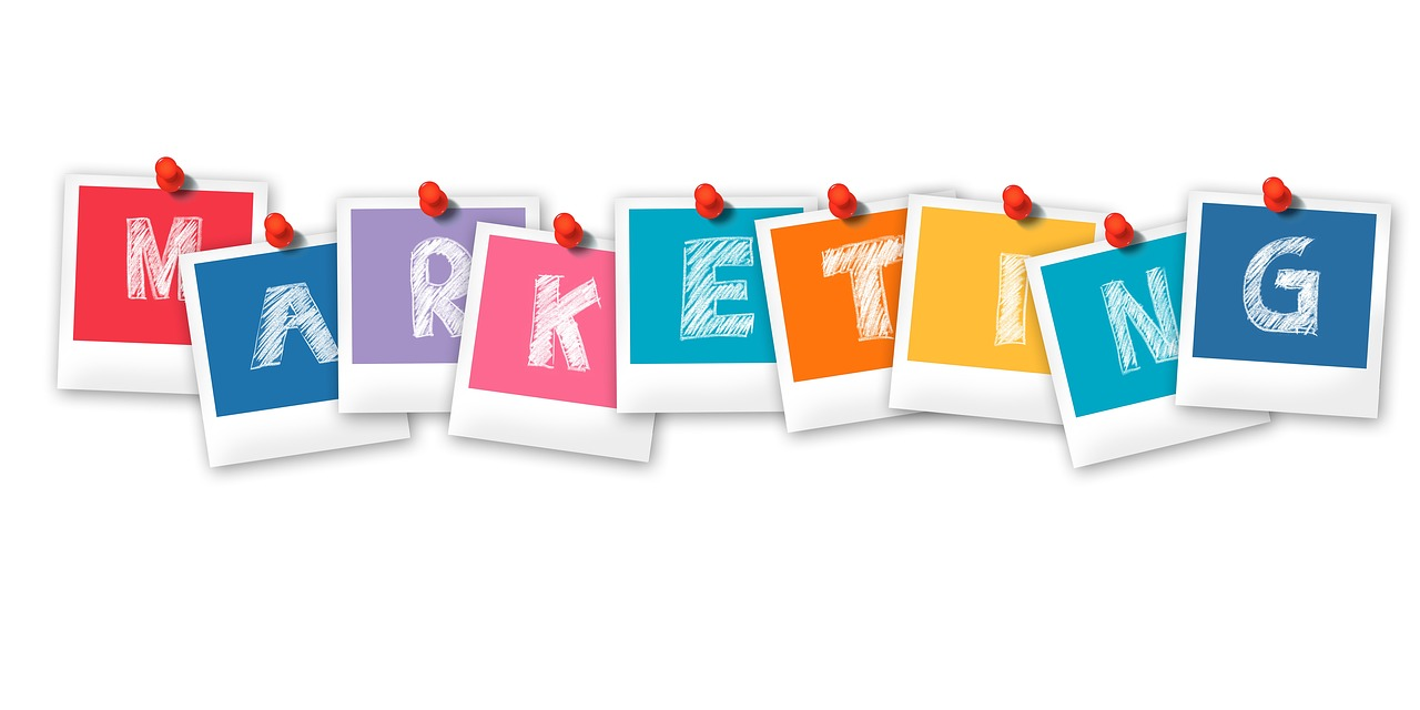 "Graphic that spells out the word, ""Marketing""."