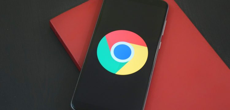 Google symbol on a cell phone.