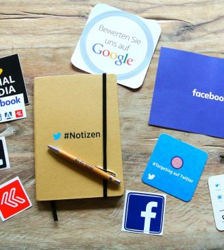 Various forms of social media.