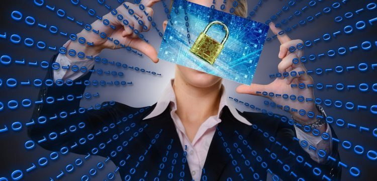 A graphic of a person holding a padlock.