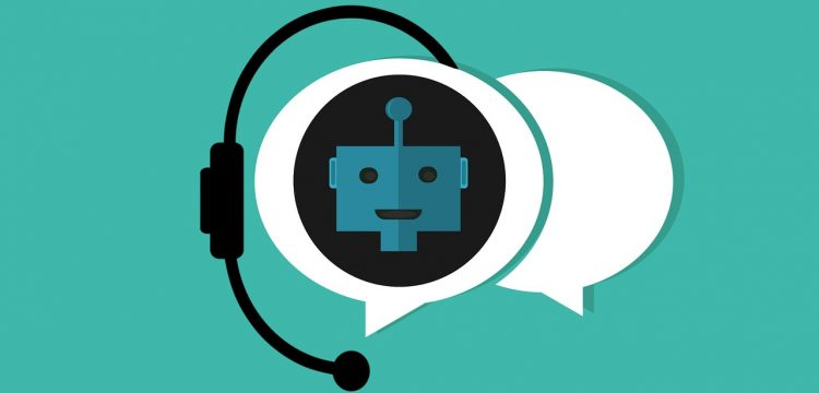 A graphic indicating a chat bot.