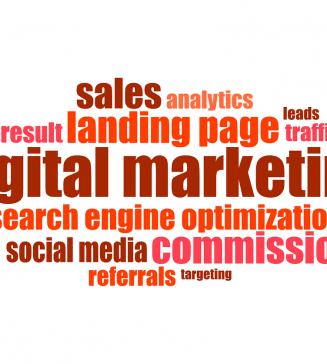 Digital marketing graphic.