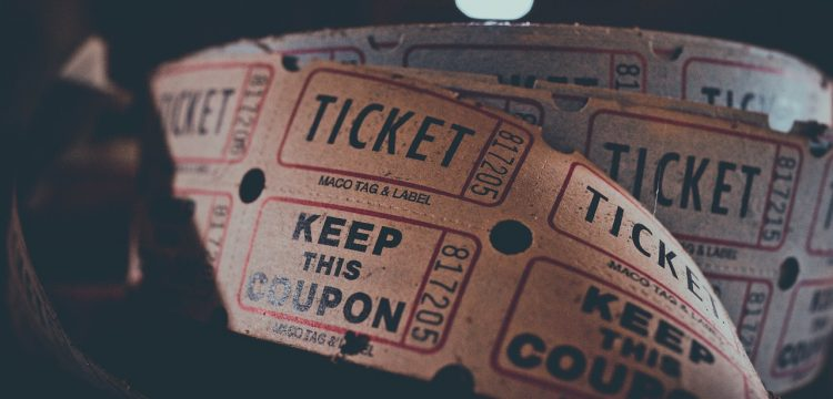 Photo of tickets.
