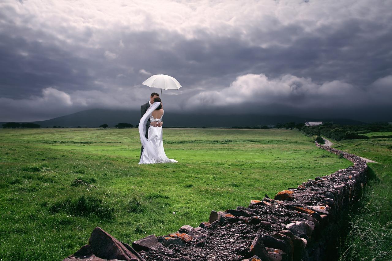 Bride and groom in Ireland.