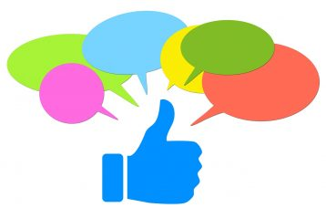 """Graphic of a """"thumbs up""""."""
