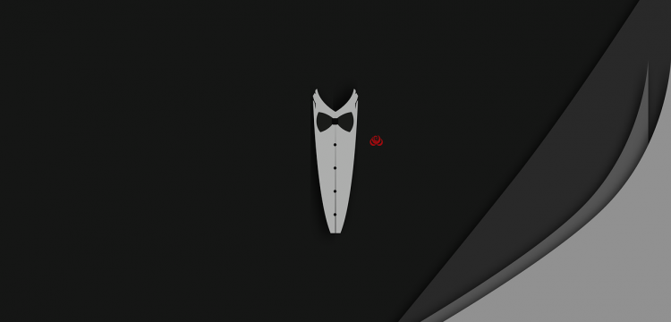 Graphic of a tuxedo jacket.
