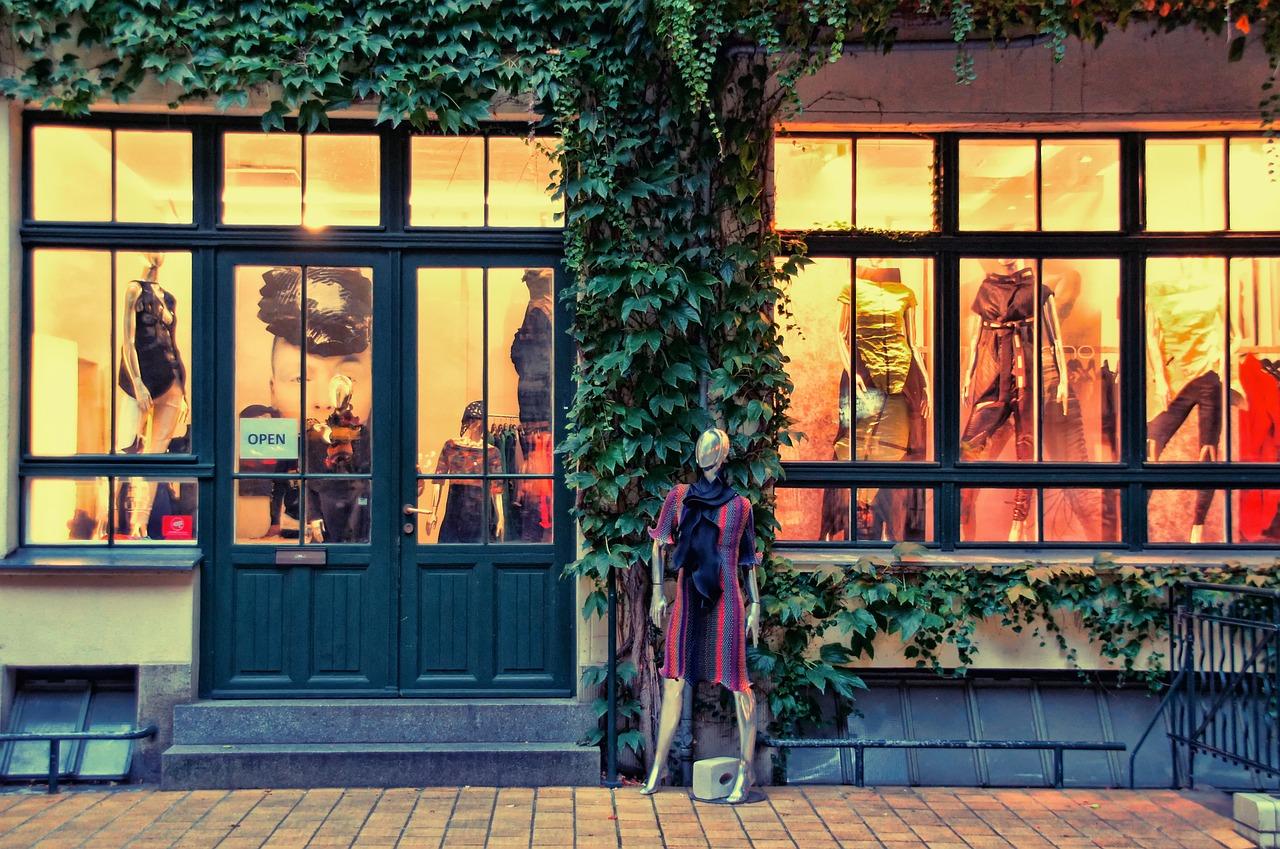 A boutique business storefront.