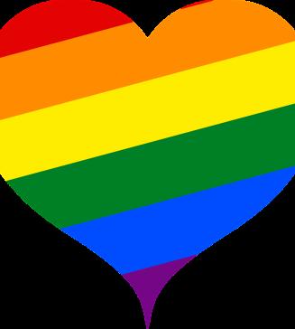 A rainbow heart.