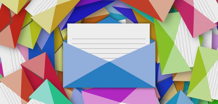 A graphic indicating mail and/or email.