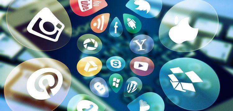 Image of various social media icons.