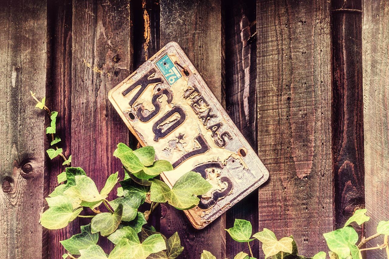 A Texas license plate.