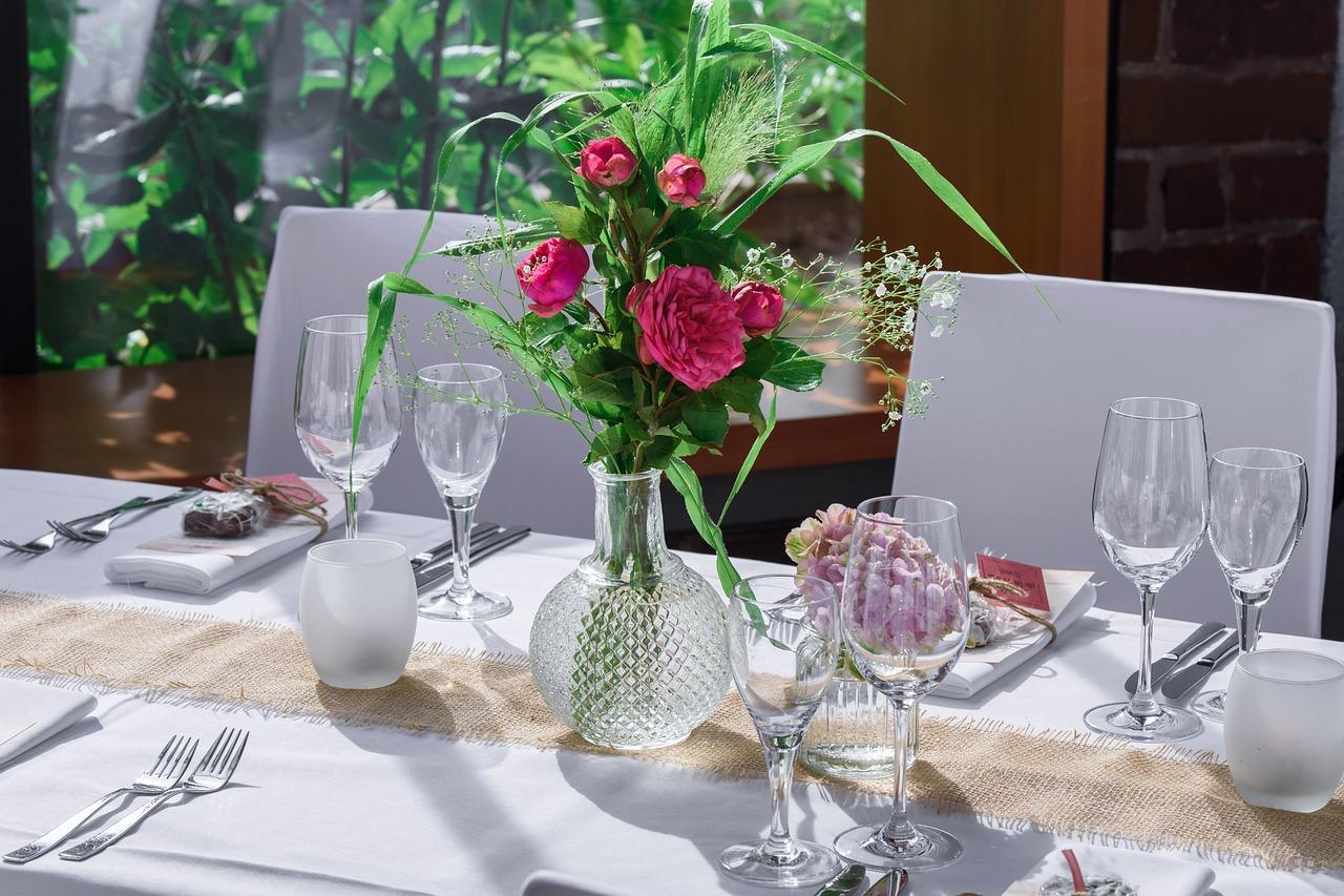 A beautiful wedding table setting.