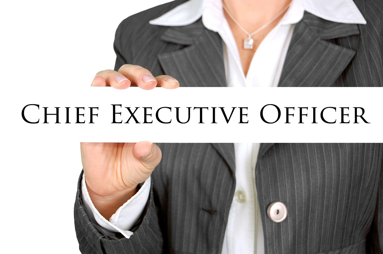 "The words, ""Chief Executive Officer""."