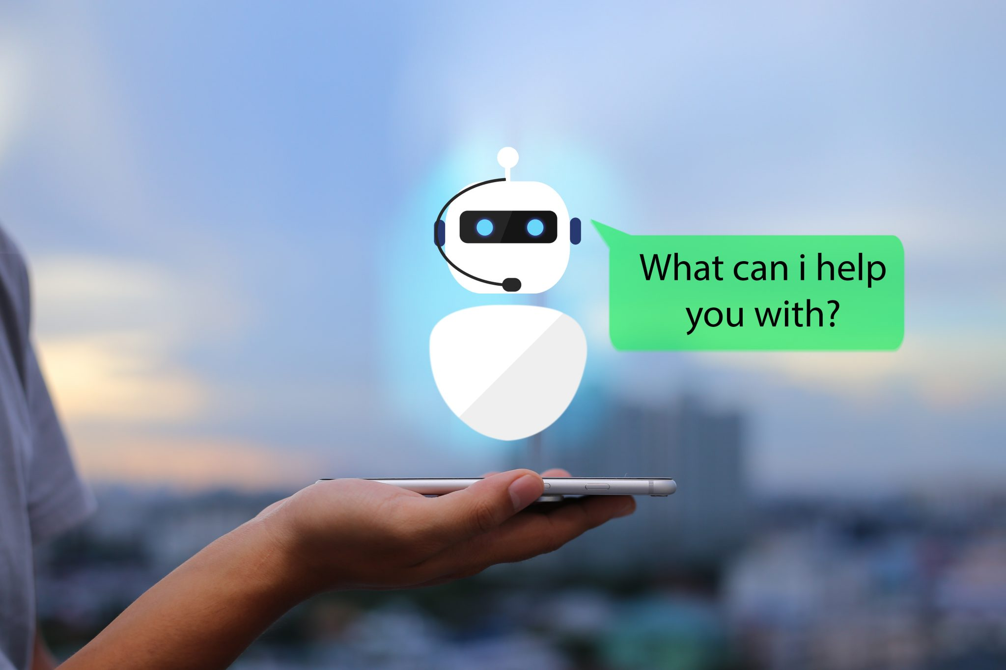 Graphic of a chat bot.